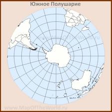 Контурная карта Южного Полушария