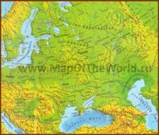 Физическая карта Восточной Европы
