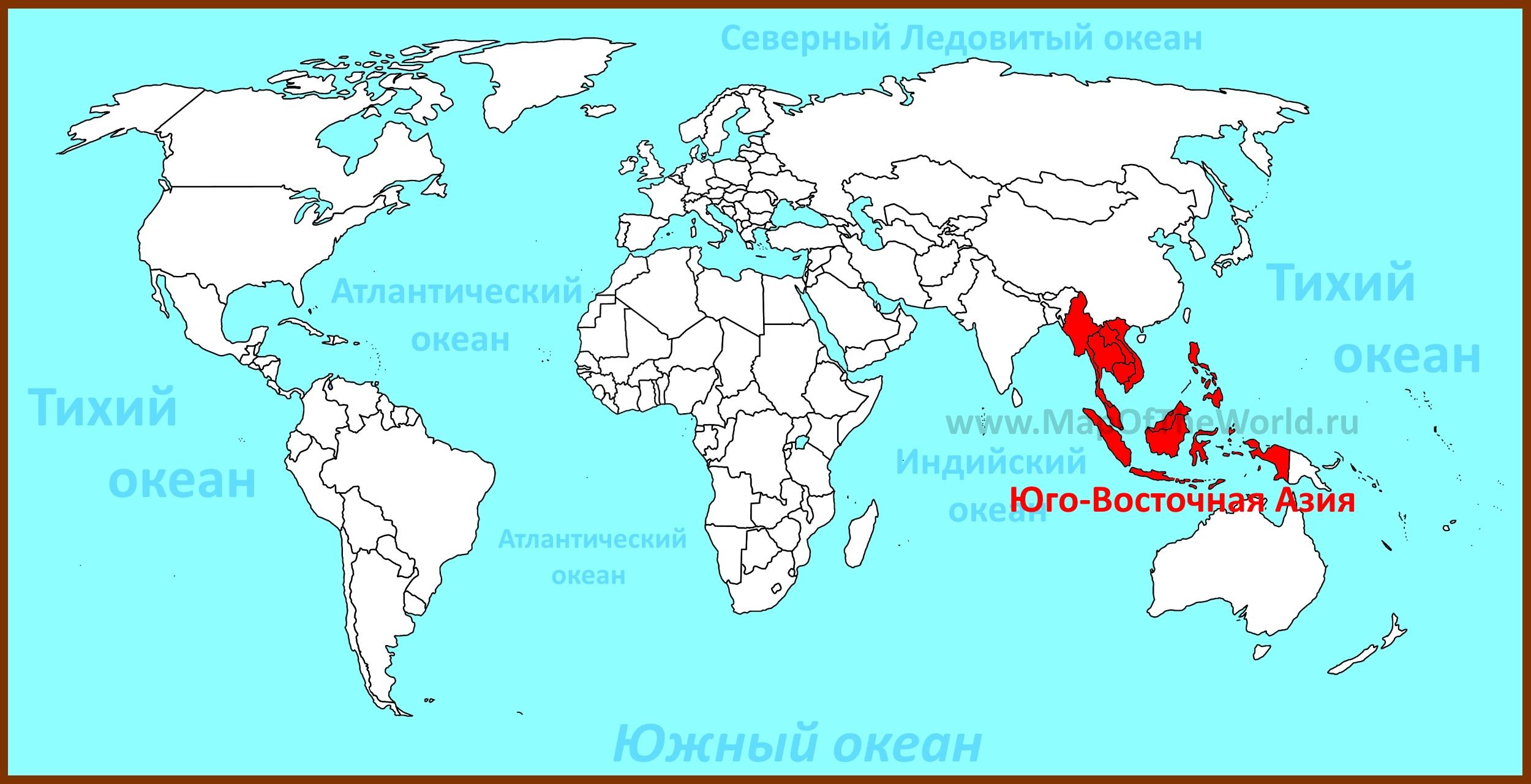 Картинки по запросу карта Юговосточной Азии