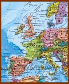 Политическая карта Западной Европы