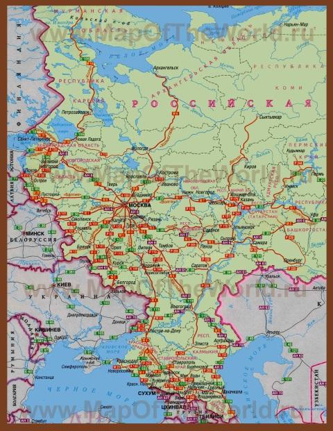 Карты автомобильных дорог.