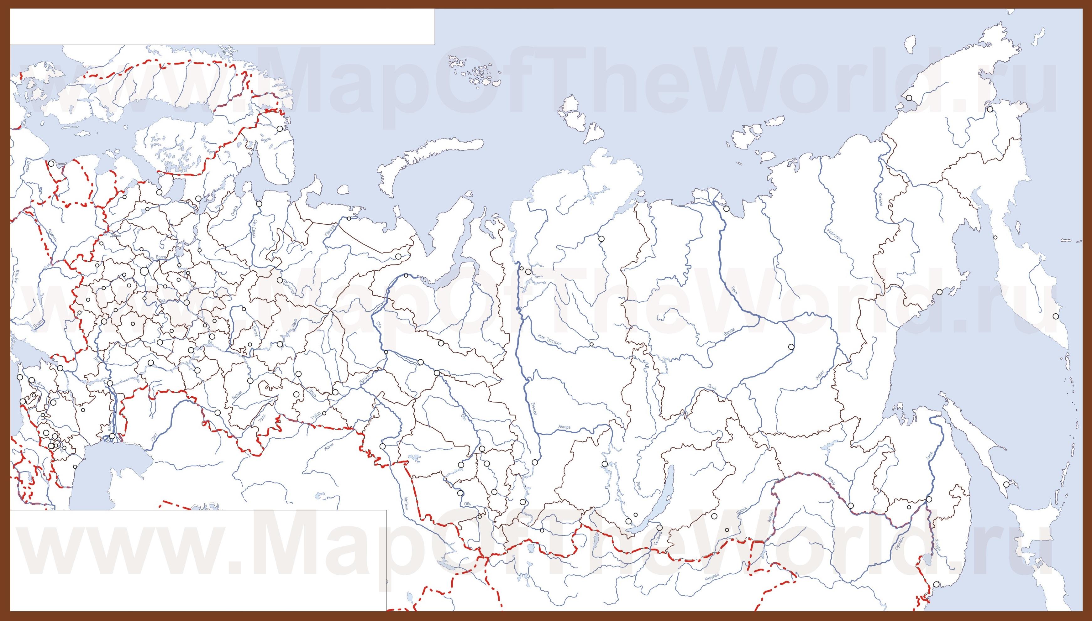 Карта России В Векторе