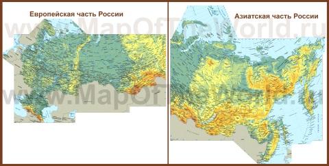 Подробная карта россии с городами