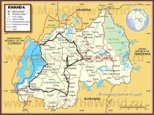 Подробная карта Руанды