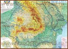 Подробная карта Румынии
