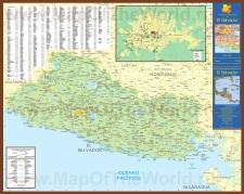 Подробная карта Сальвадора