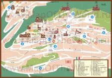 Подробная карта Сан-Марино с достопримечательностями