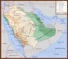 Подробная карта Саудовской Аравии