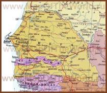 Карта Сенегала на русском языке