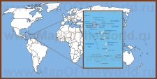 Сент-Китс и Невис на карте мира