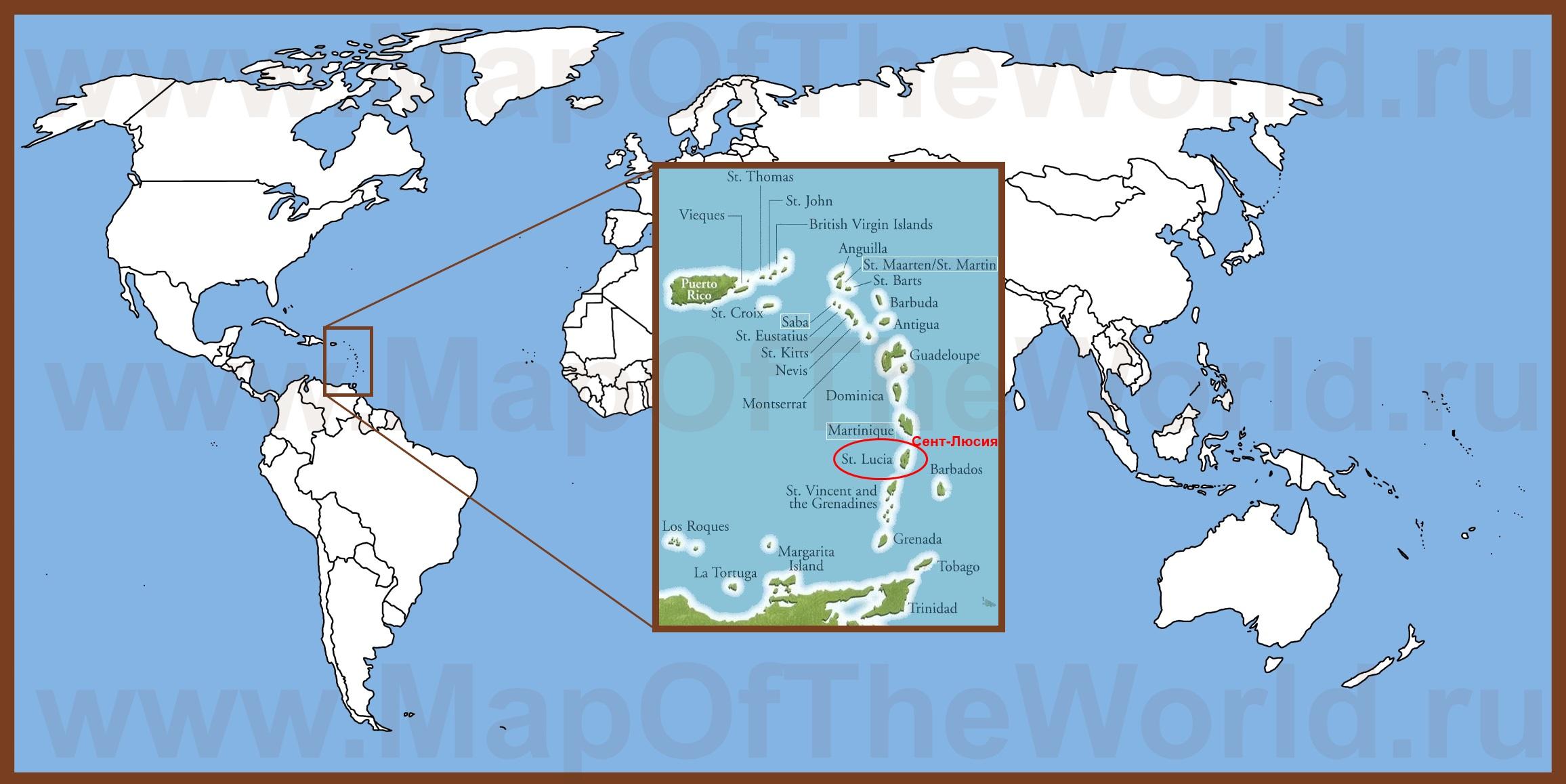 Где находится карибы