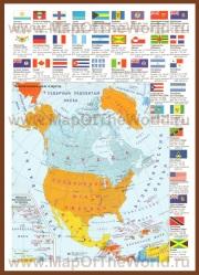 Политическая карта Северной Америки со странами