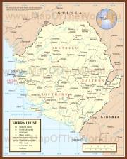 Подробная карта Сьерра-Леоне