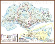 Карта города Сингапур