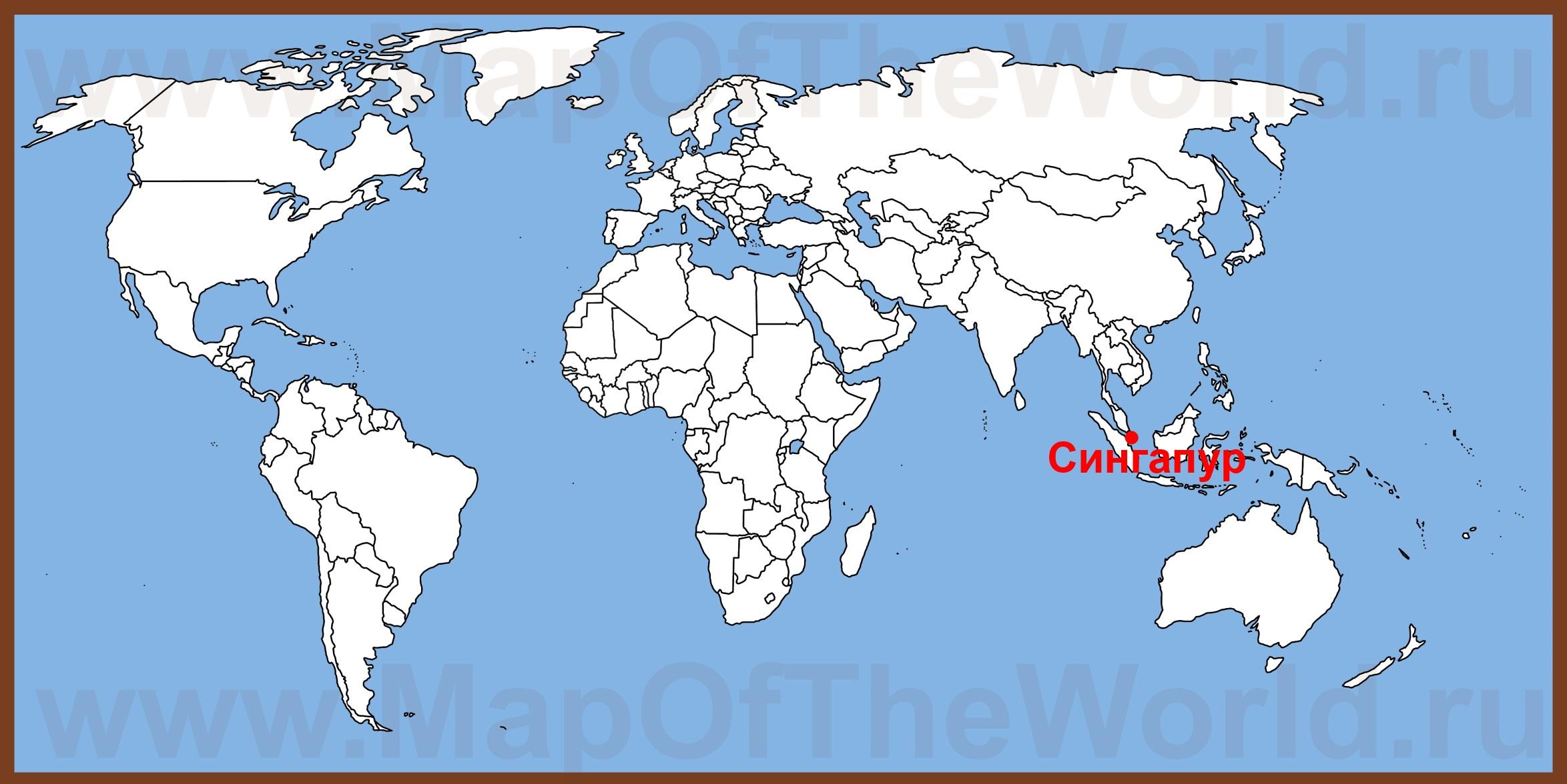 Singapur Na Karte Mira