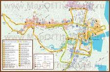 Туристическая карта Сингапура с достопримечательностями
