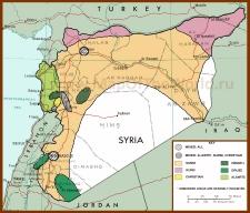 Этно-религиозная карта Сирии