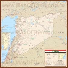 Подробная карта Сирии с городами