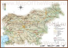 Подробная карта Словении
