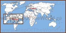 Словения на карте Европы и мира
