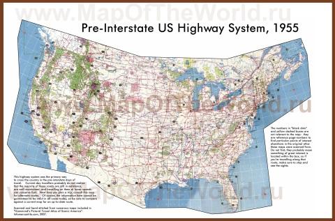 Карта дорог США