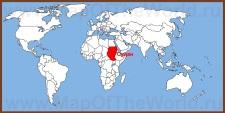 Судан на карте мира