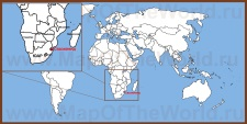 Свазиленд на карте мира