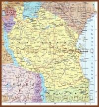 Карта Танзании на русском языке