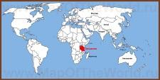 Танзания на карте мира