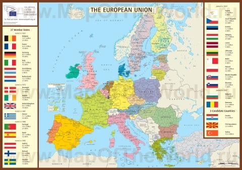 Подробная карта ЕС