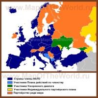 Карта стран Нато в Европе