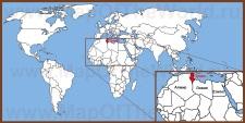 Тунис на карте мира и Африки