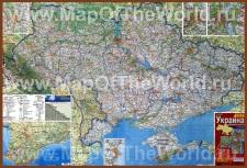 Карта черноморского побережья Украины