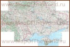 Подробная автомобильная карта дорог Украины