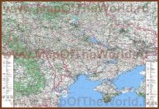 Подробная карта Украины с городами