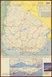 Подробная карта Уругвая
