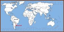 Уругвай на карте мира