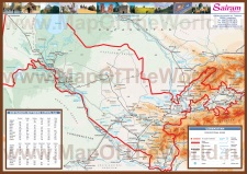 Подробная карта Узбекистана
