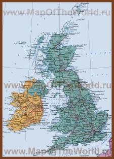 Карта Великобритании и Северной Ирландии