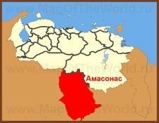 Амасонас на карте Венесуэлы