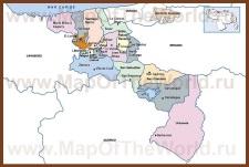 Подробная карта штата Арагуа