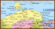 Подробная карта штата Фалькон