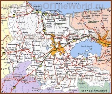 Подробная карта штата Карабобо