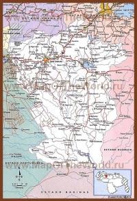 Подробная карта штата Кохедес