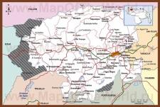 Подробная карта штата Лара