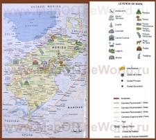 Подробная карта штата Мерида