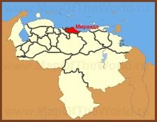 Миранда на карте Венесуэлы