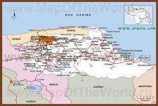 Подробная карта штата Миранда