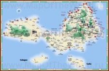 Подробная туристическая карта штата Нуэва-Эспарта