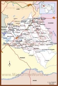 Подробная карта штата Португеса